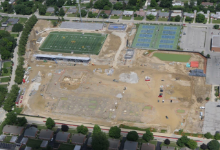 Aerial of the high school site