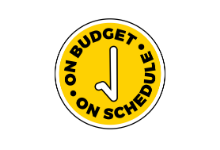 On budget, on schedule graphic
