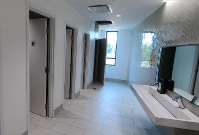 Private toilet room design at Greensview Elementary School