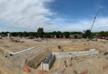 High School site as of August 16, 2019