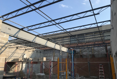 Steel work on one of the projects