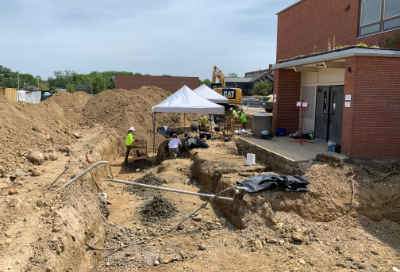 August 22 update on archaeological work on Litchford cemetery site at UAHS