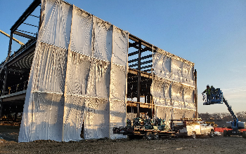 Weather proofing on the new high school building