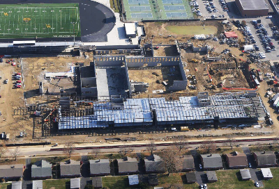 An aerial of the new high school