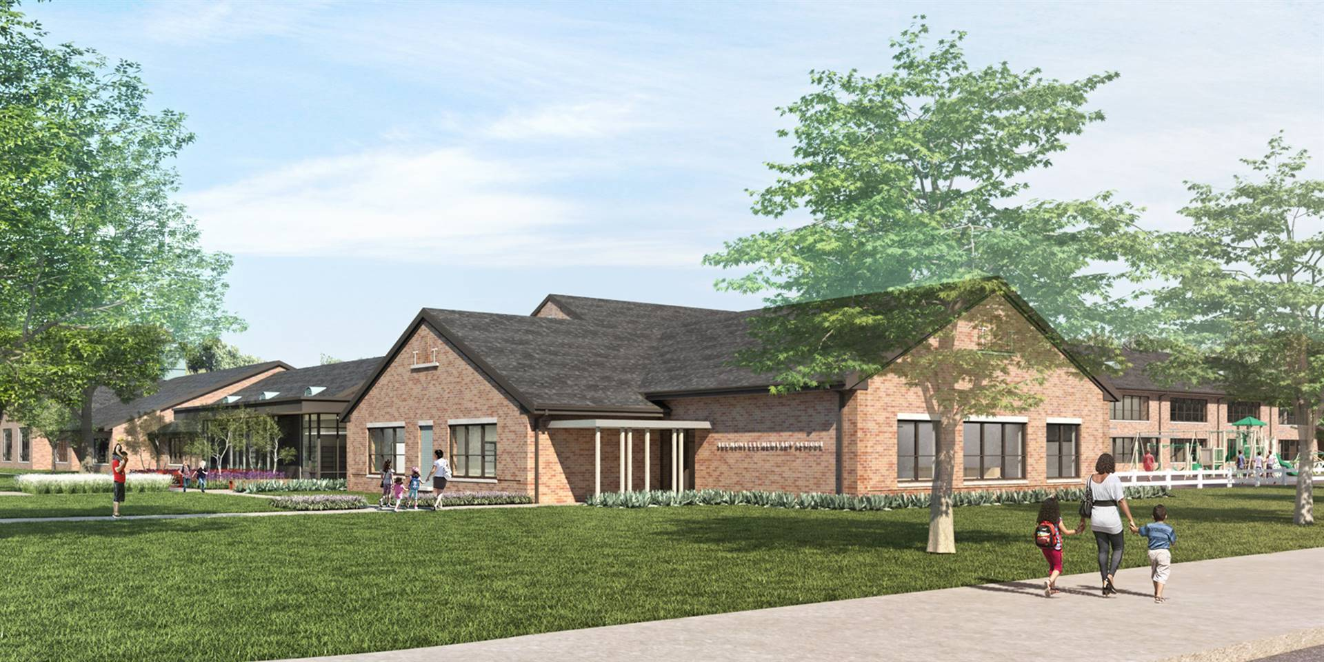A rendering of the new kindergarten addition to Tremont Elementary School