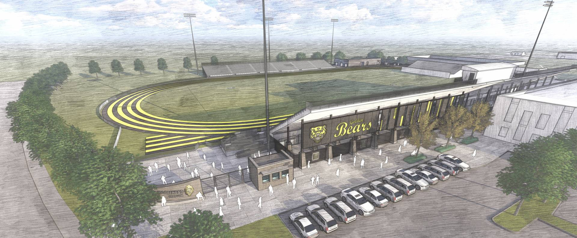 A rendering of the new stadium at Upper Arlington High School
