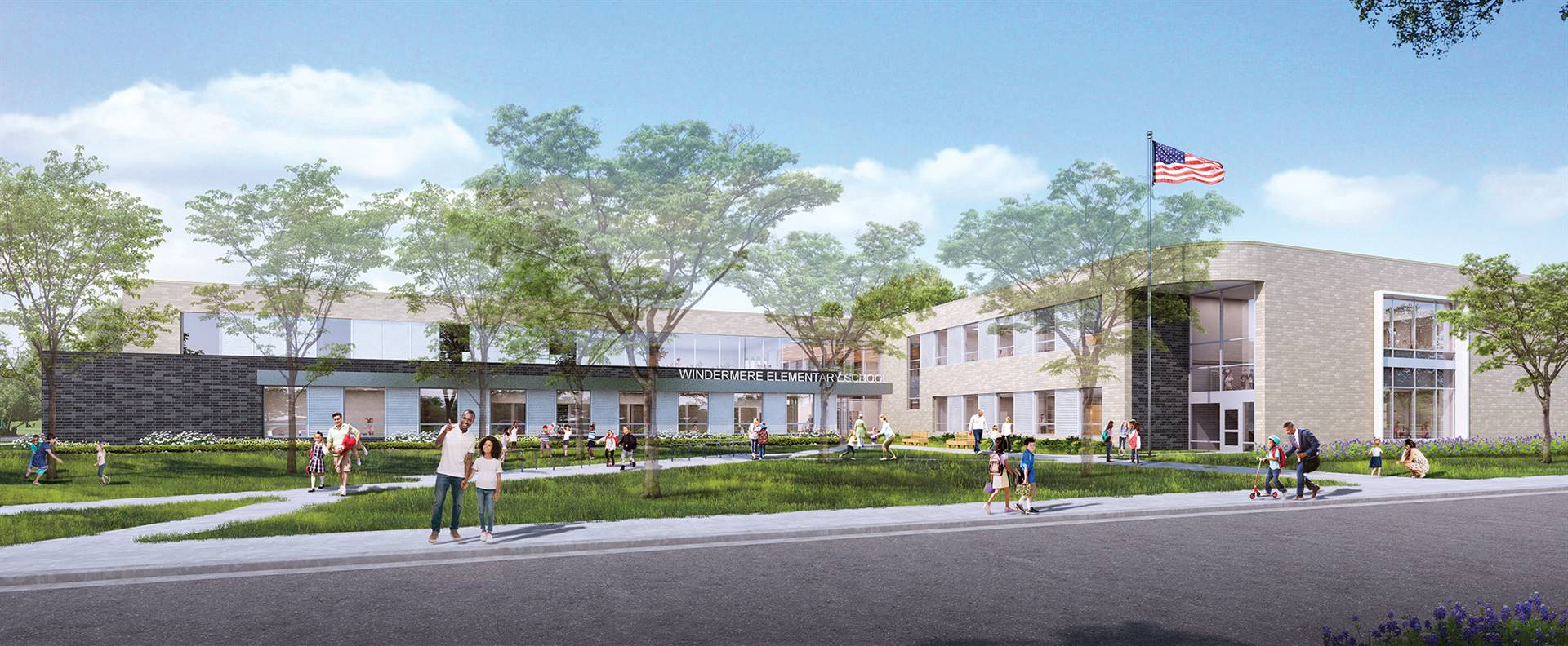 A rendering of the new Windermere Elementary School