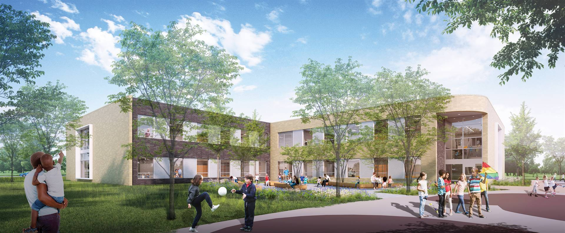 A rendering of the new Wickliffe Progressive Elementary School