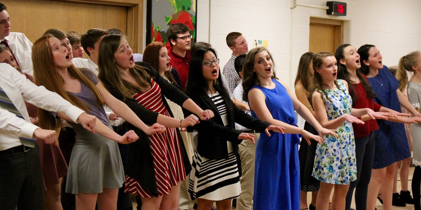 UA Vocal Music performing at State of the Schools