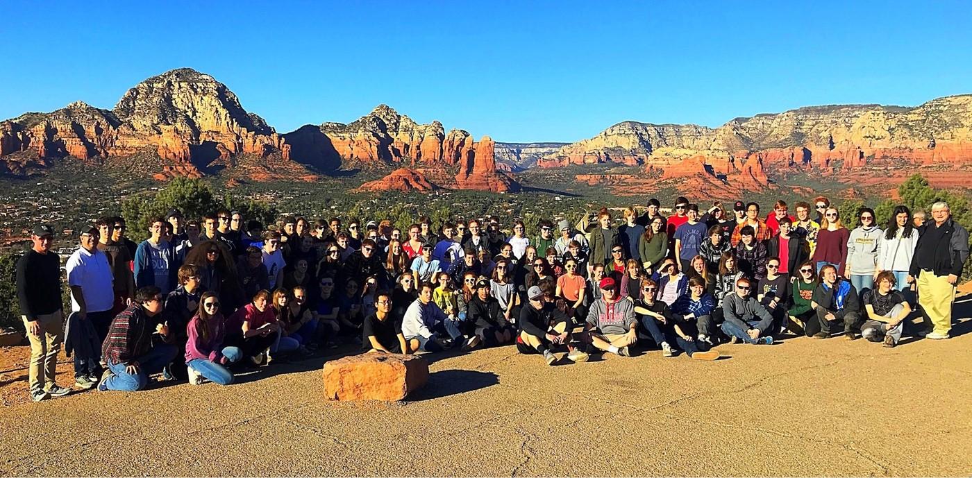 Photo of UAHS Band in Arizona desert