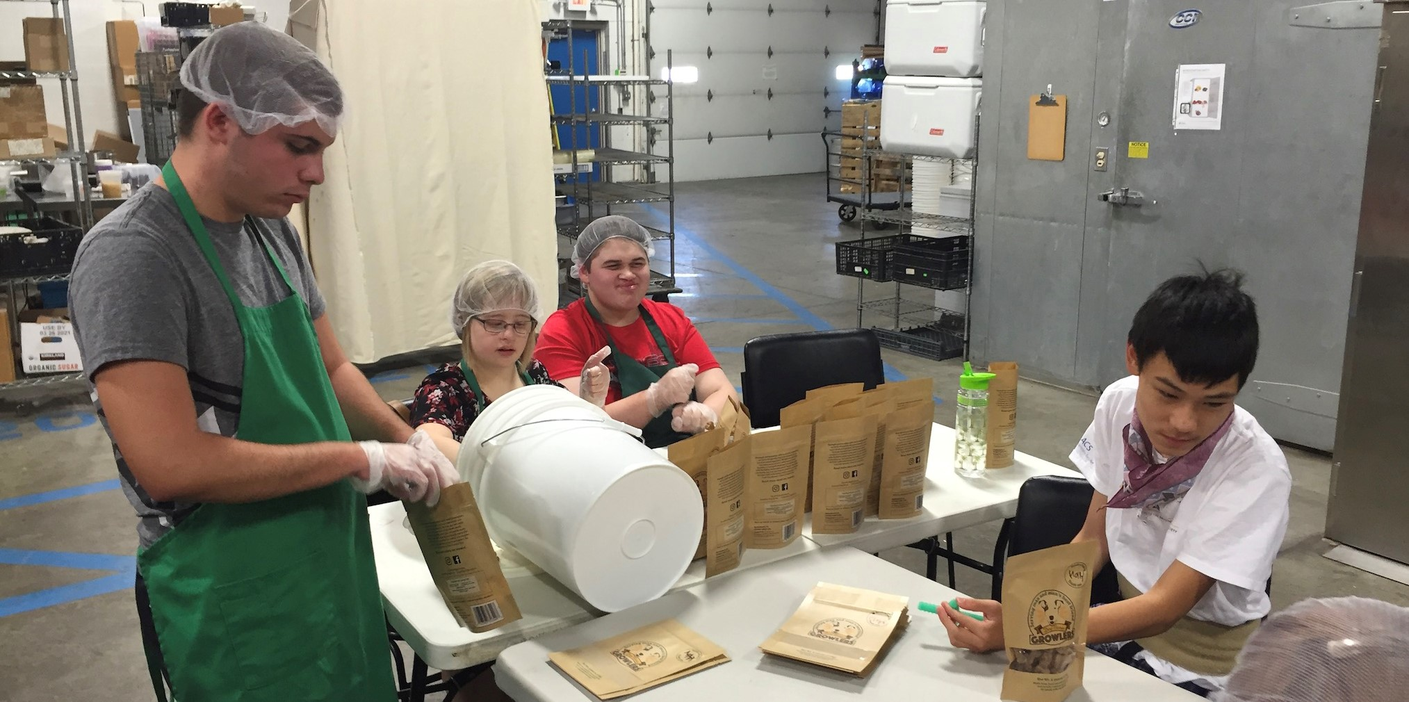 Photo of students working on Growlers