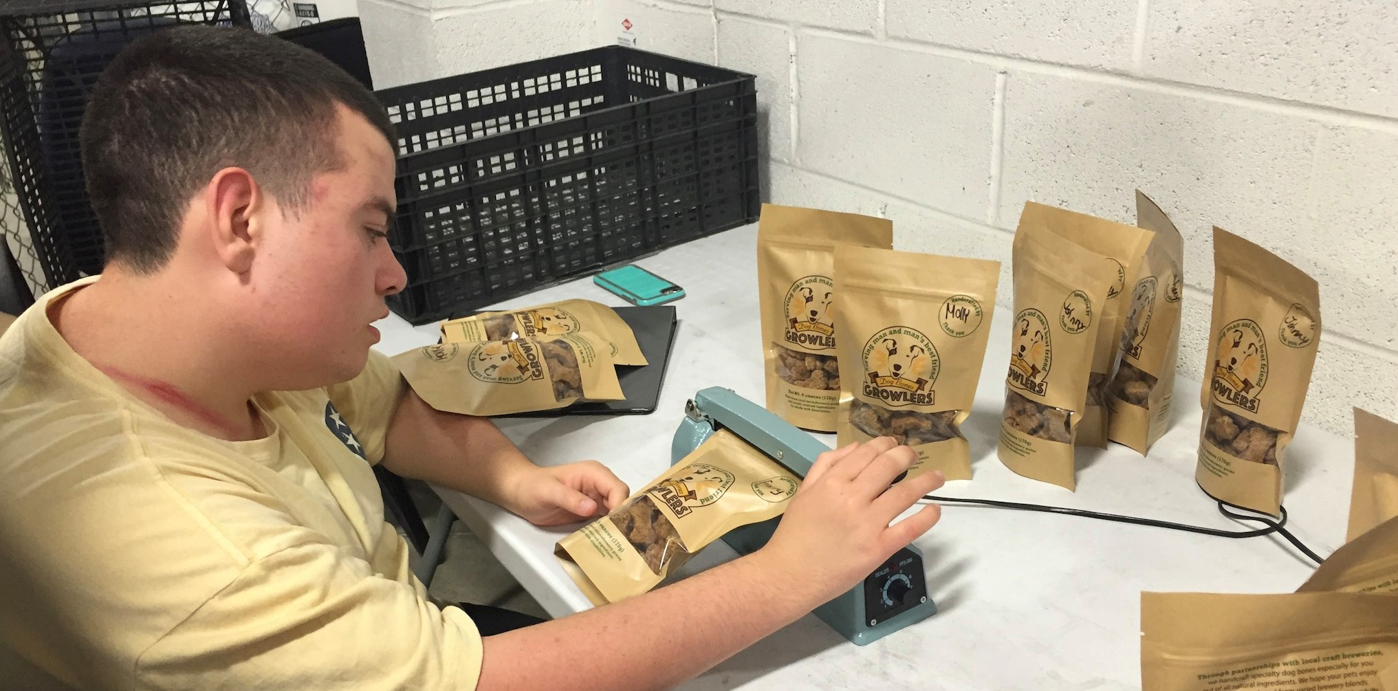 Photo of student working on Growlers