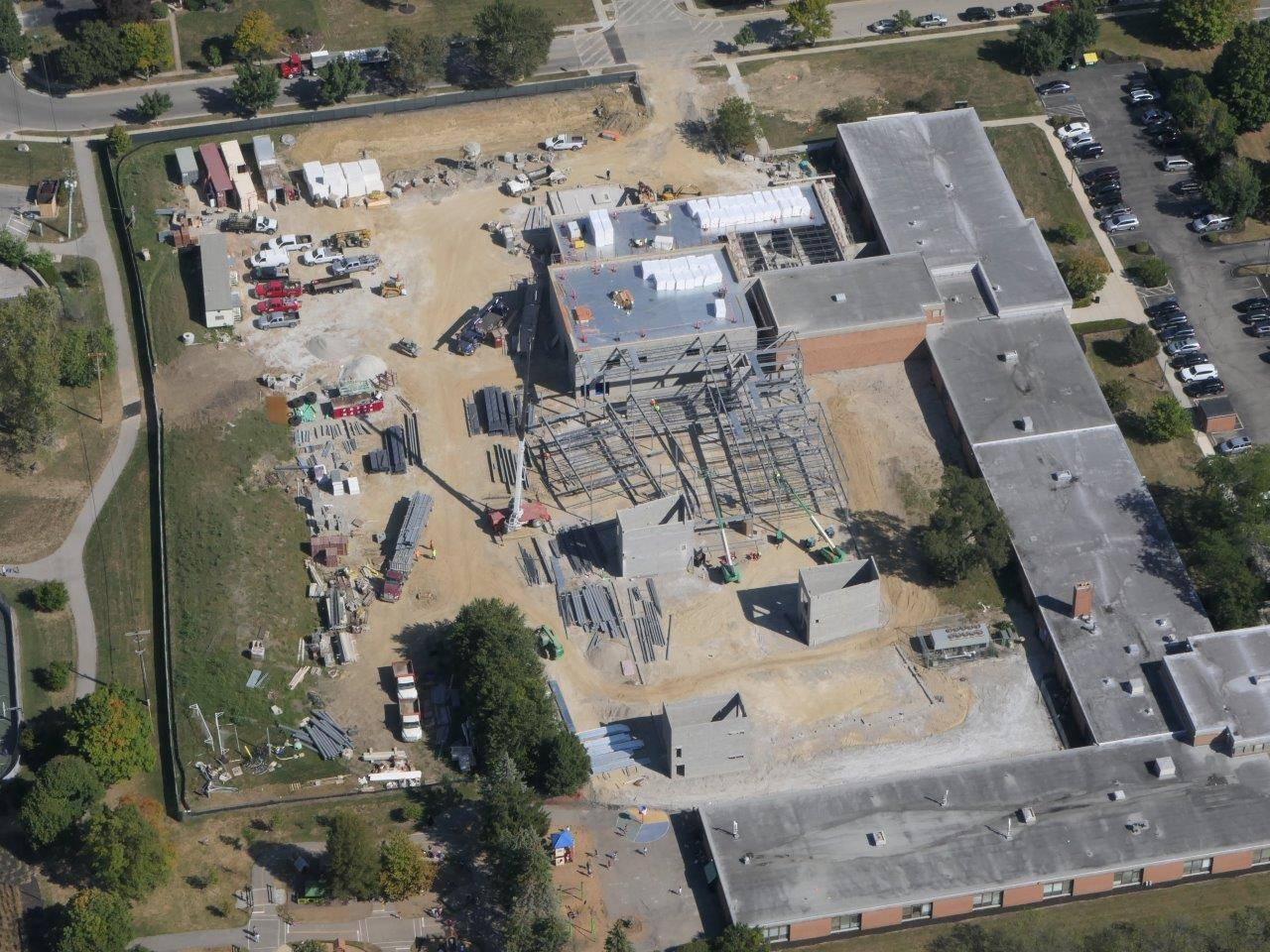 An aerial of the Greensview Elementary School site