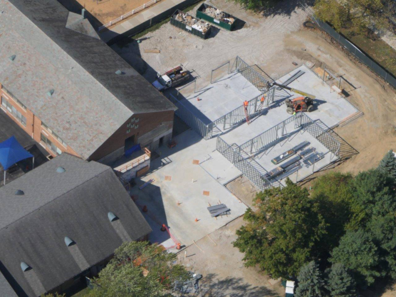An aerial of the Tremont Elementary School addition