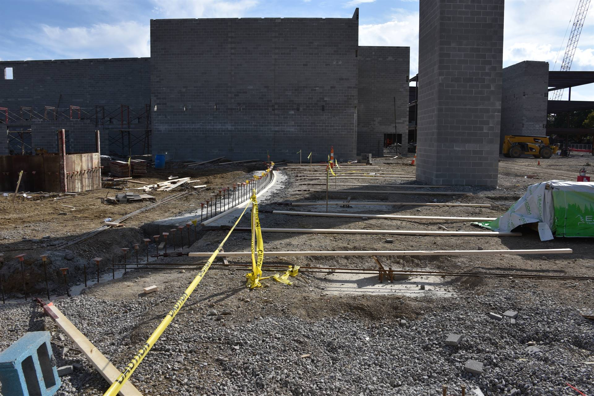 Foundation and footer installation on the high school site