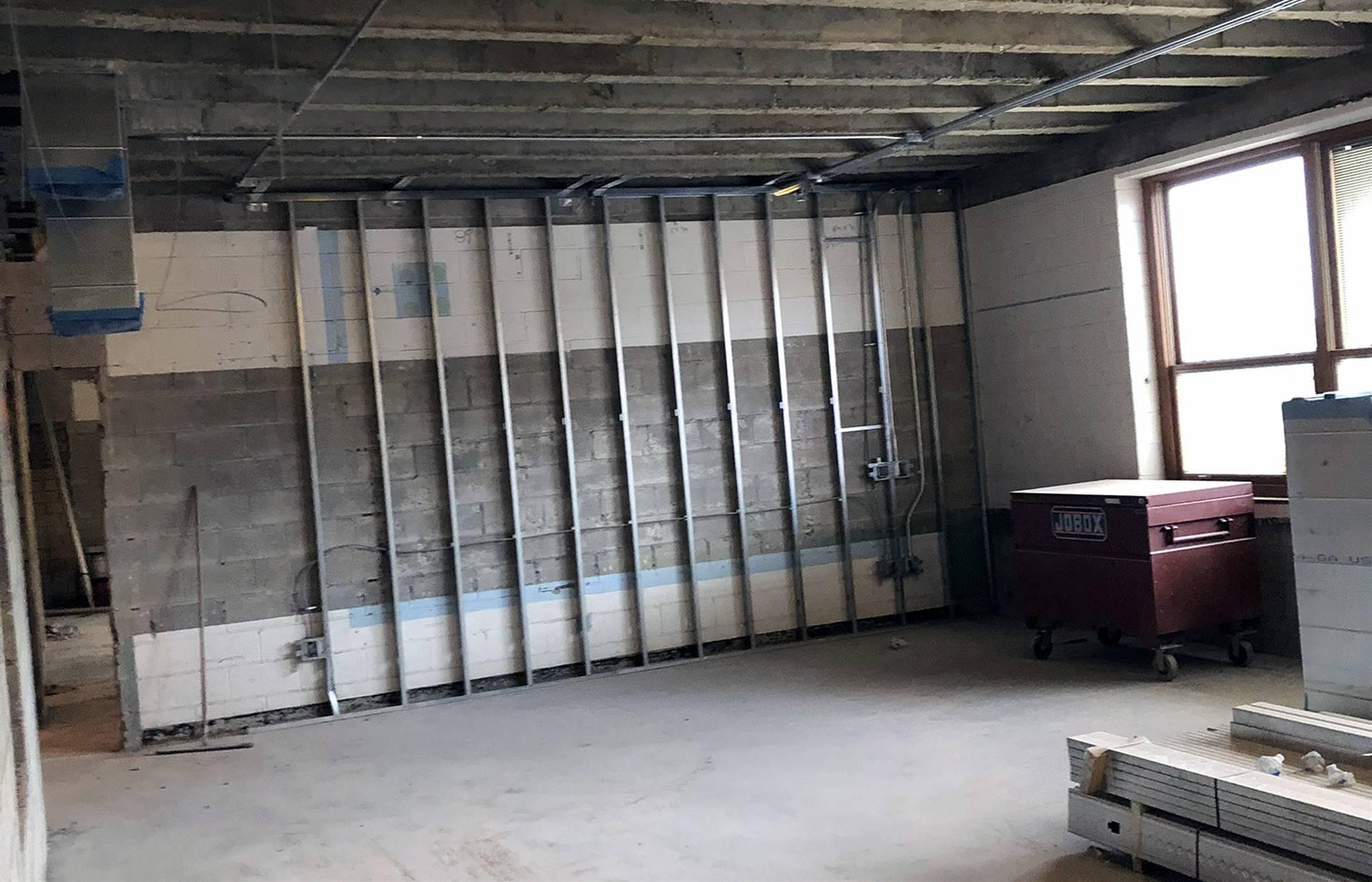 Progress on the Tremont Elementary School second floor interior renovation