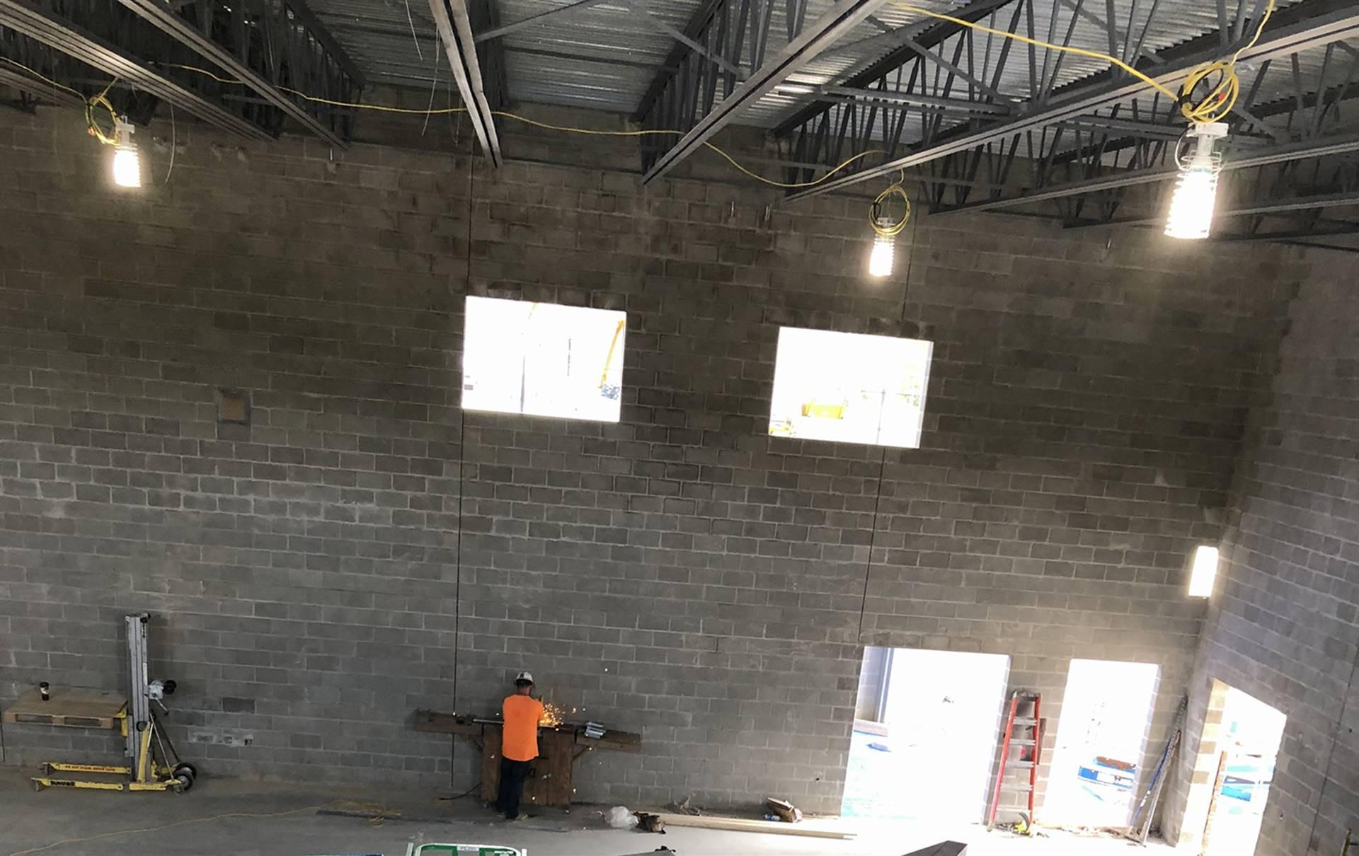 Progress on the new Greensview Elementary School gymnasium