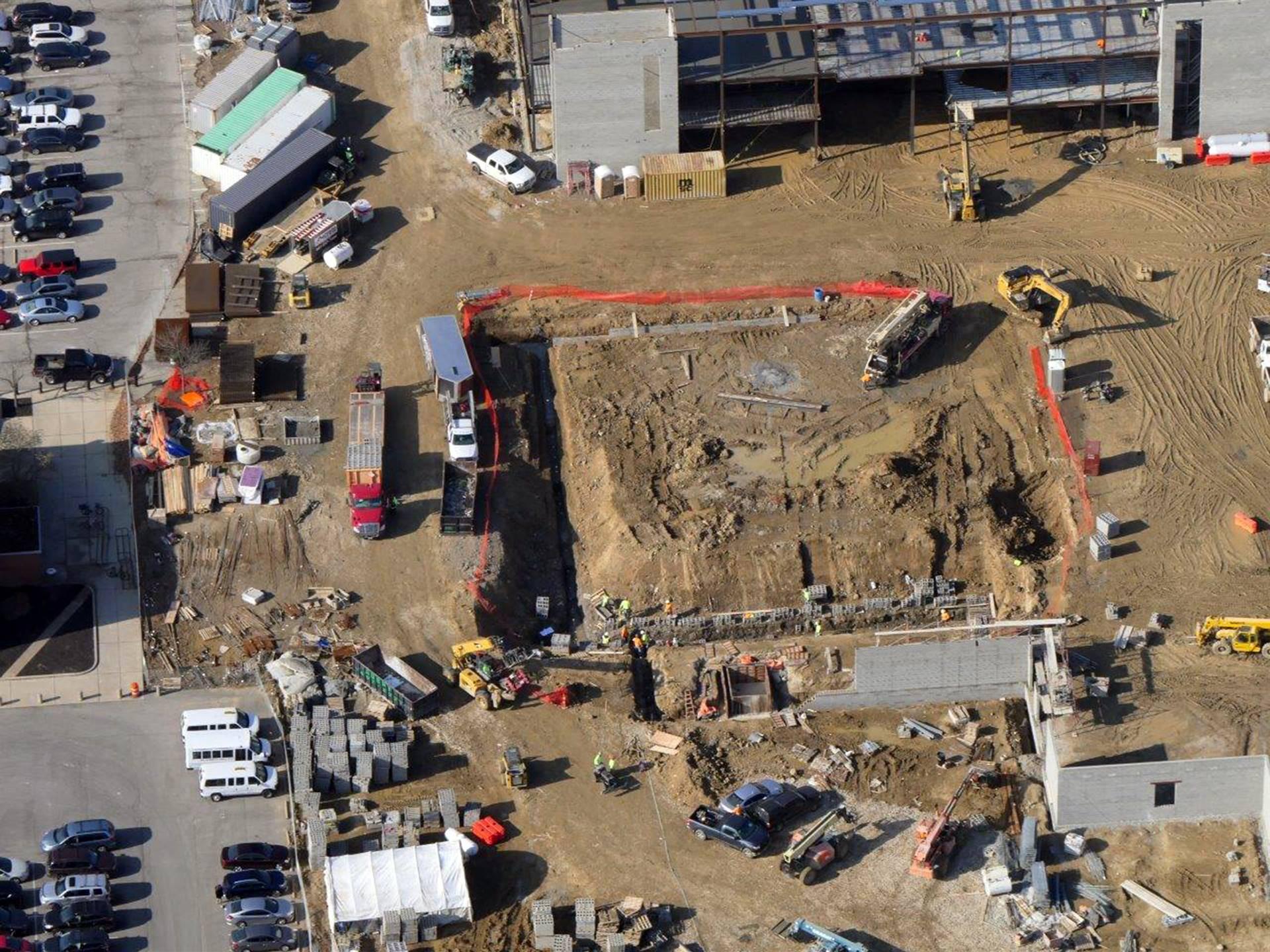 Excavation work for the new natatorium