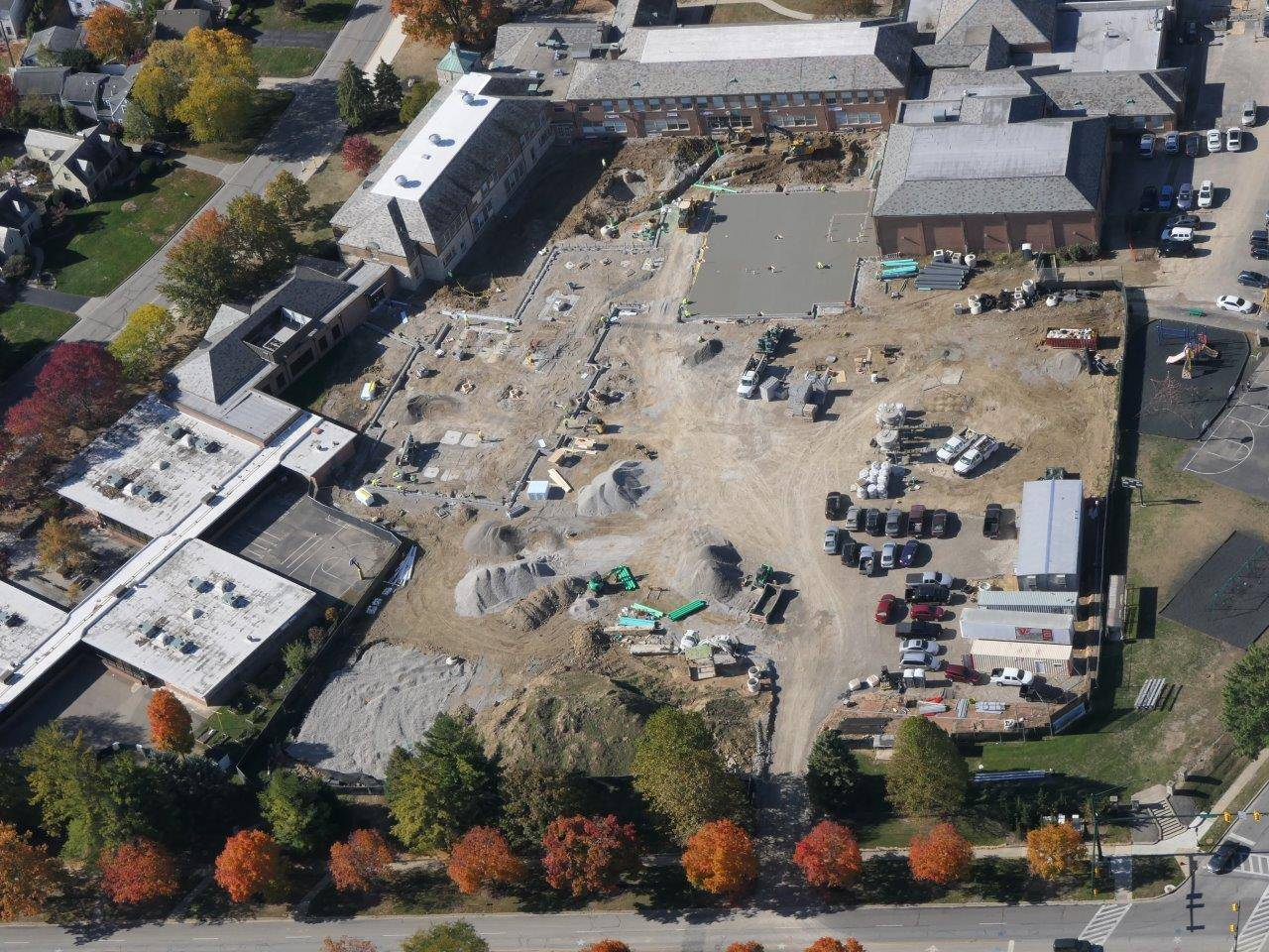 Aerial photo of the Barrington Elementary School site