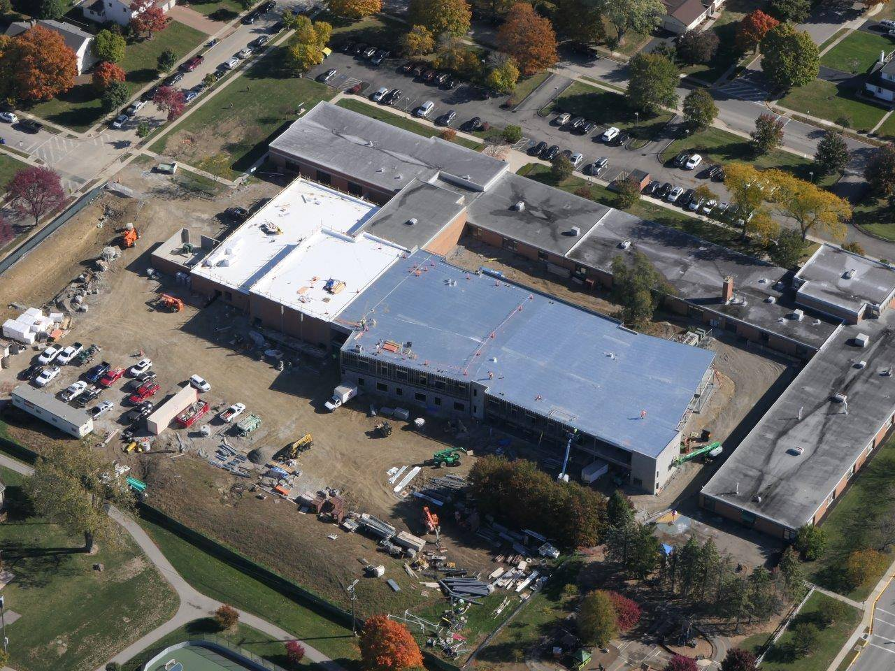 Aerial photo of the Greensview Elementary School site