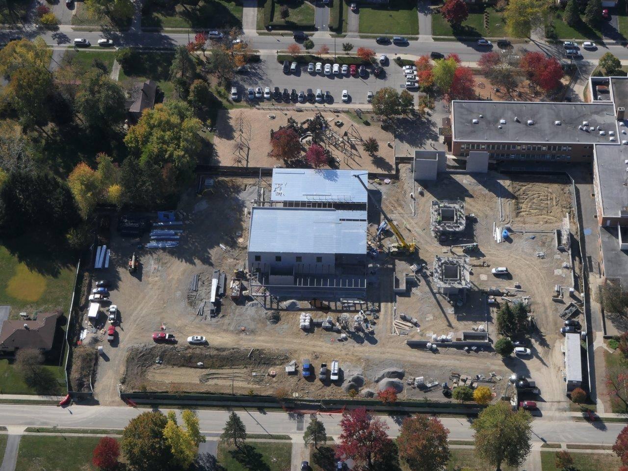 Aerial photo of the Wickliffe Progressive Elementary School site