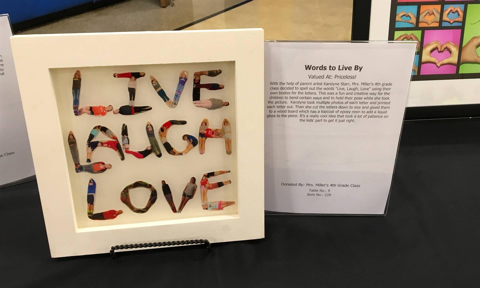 Informal Affair Art Project: Live Laugh Love