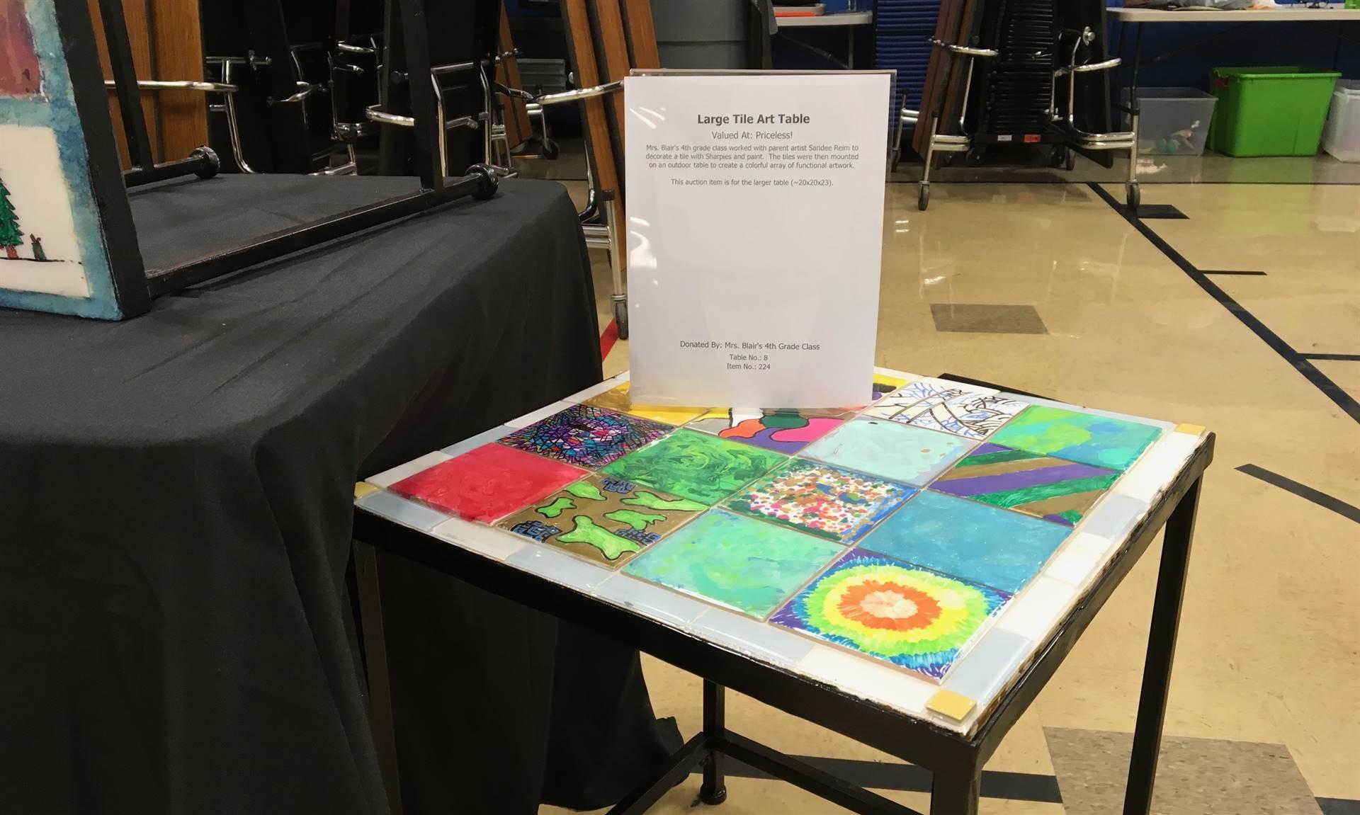 Informal Affair Art Project: Large Tile Art Table