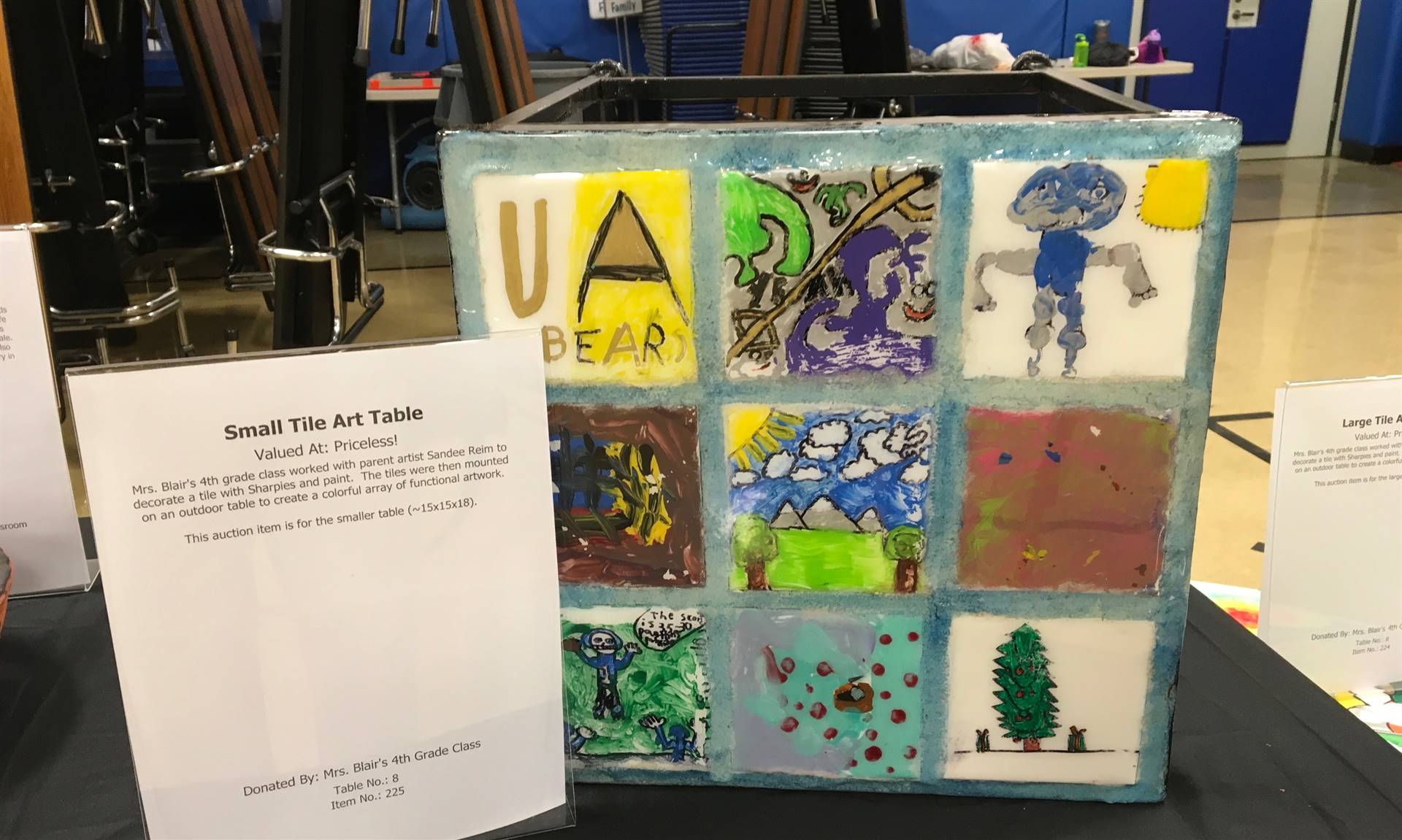 Informal Affair Art Project: Small Tile Art Table