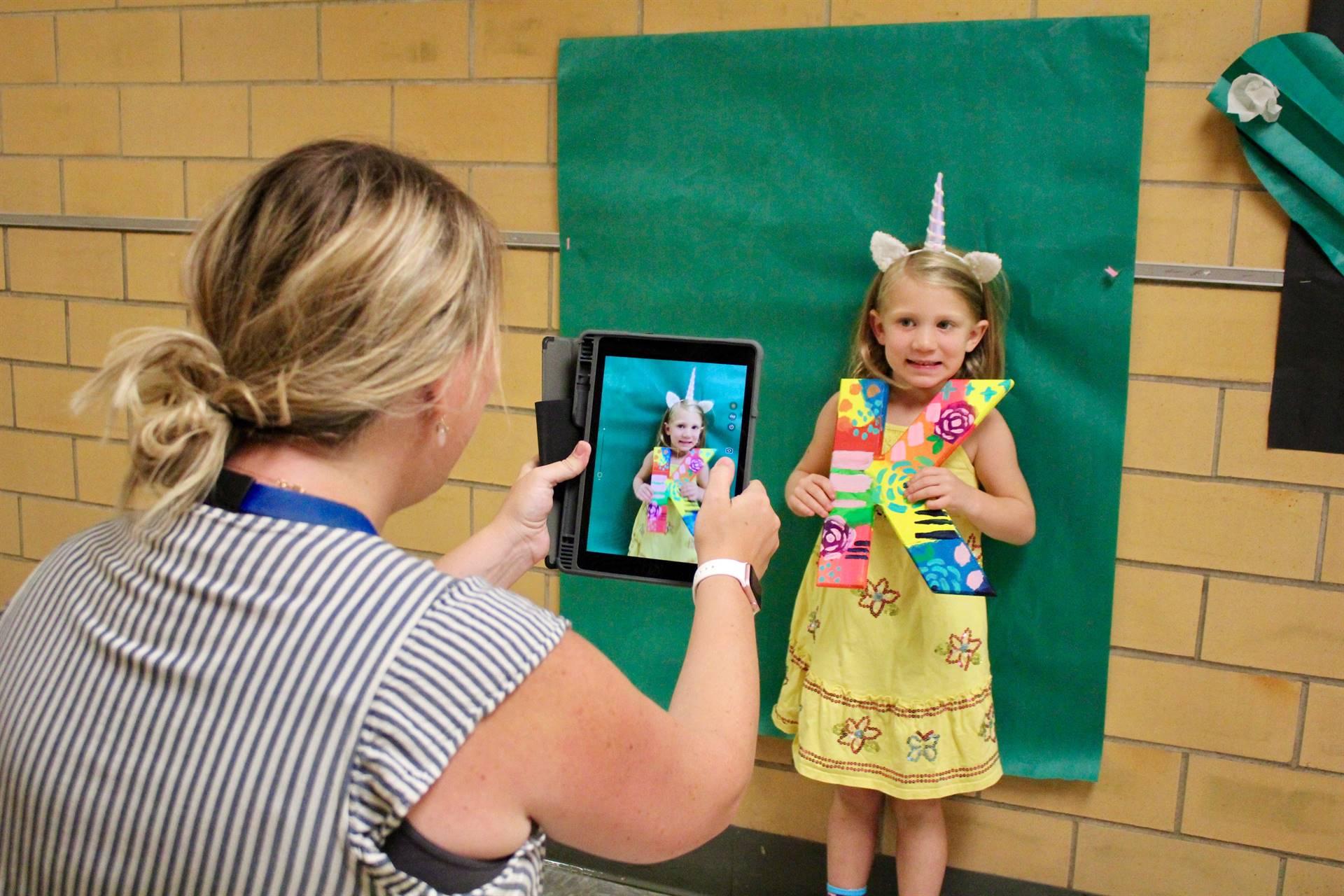 First day of kindergarten photo