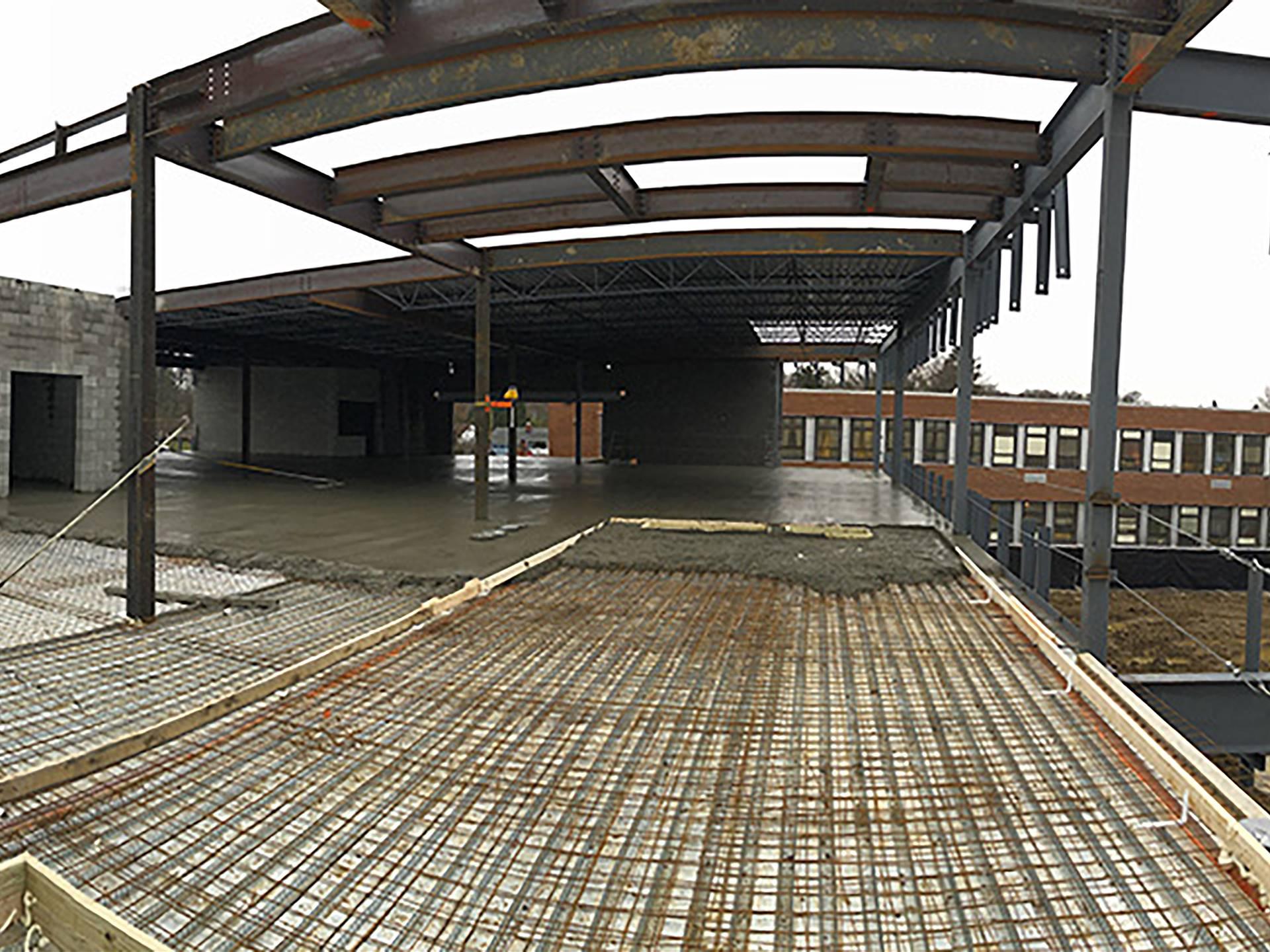 Concrete decking at Wickliffe