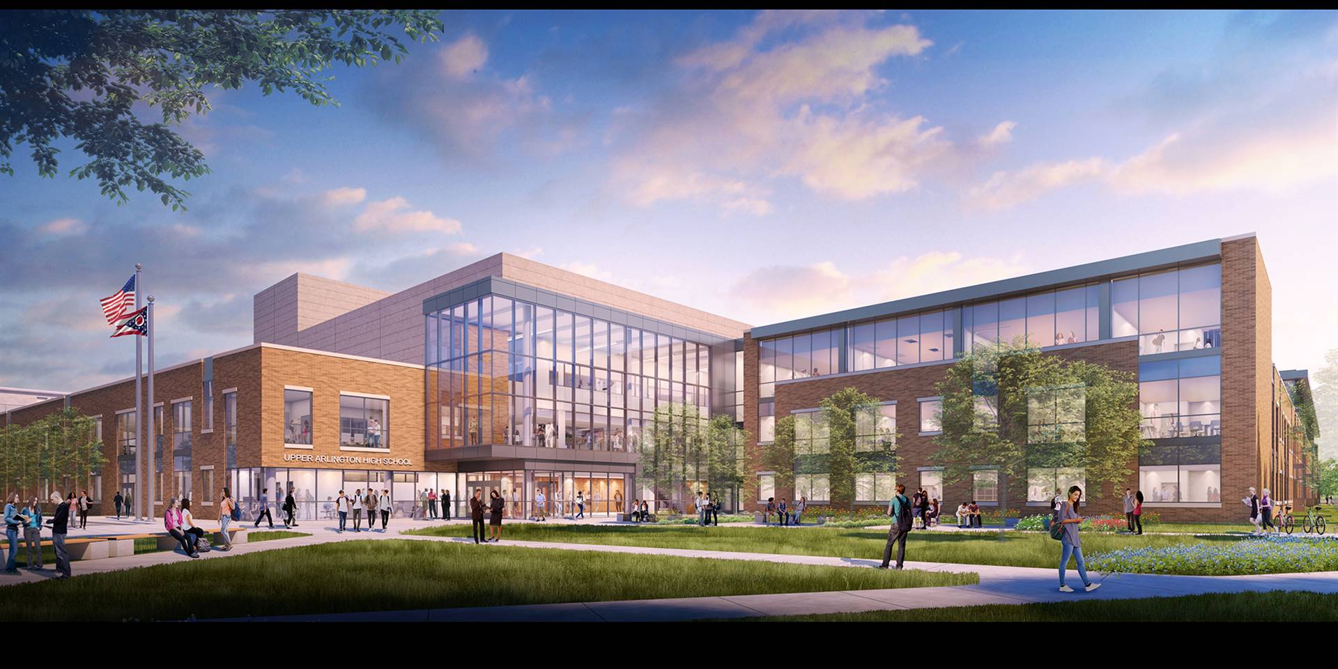 The new main entrance to Upper Arlington High School