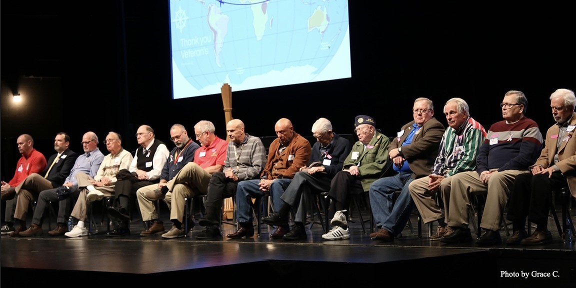 honored vets on stage