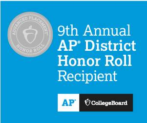 9th Annual AP District Honor Roll Recipient graphic
