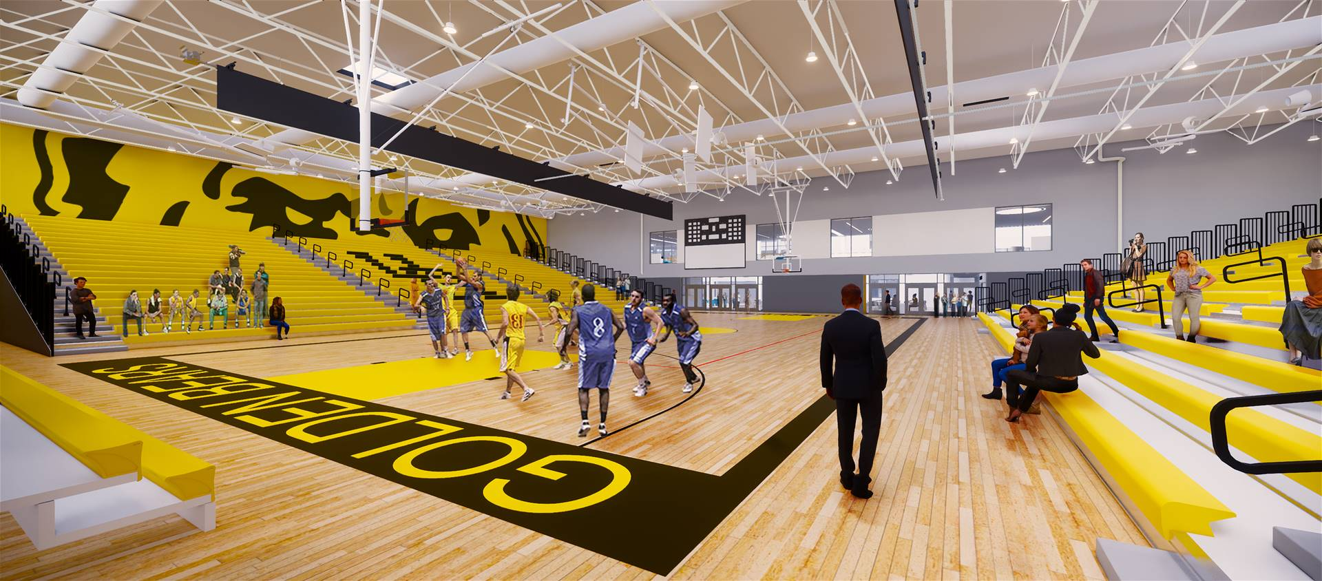 A rendering of the varsity gymnasium