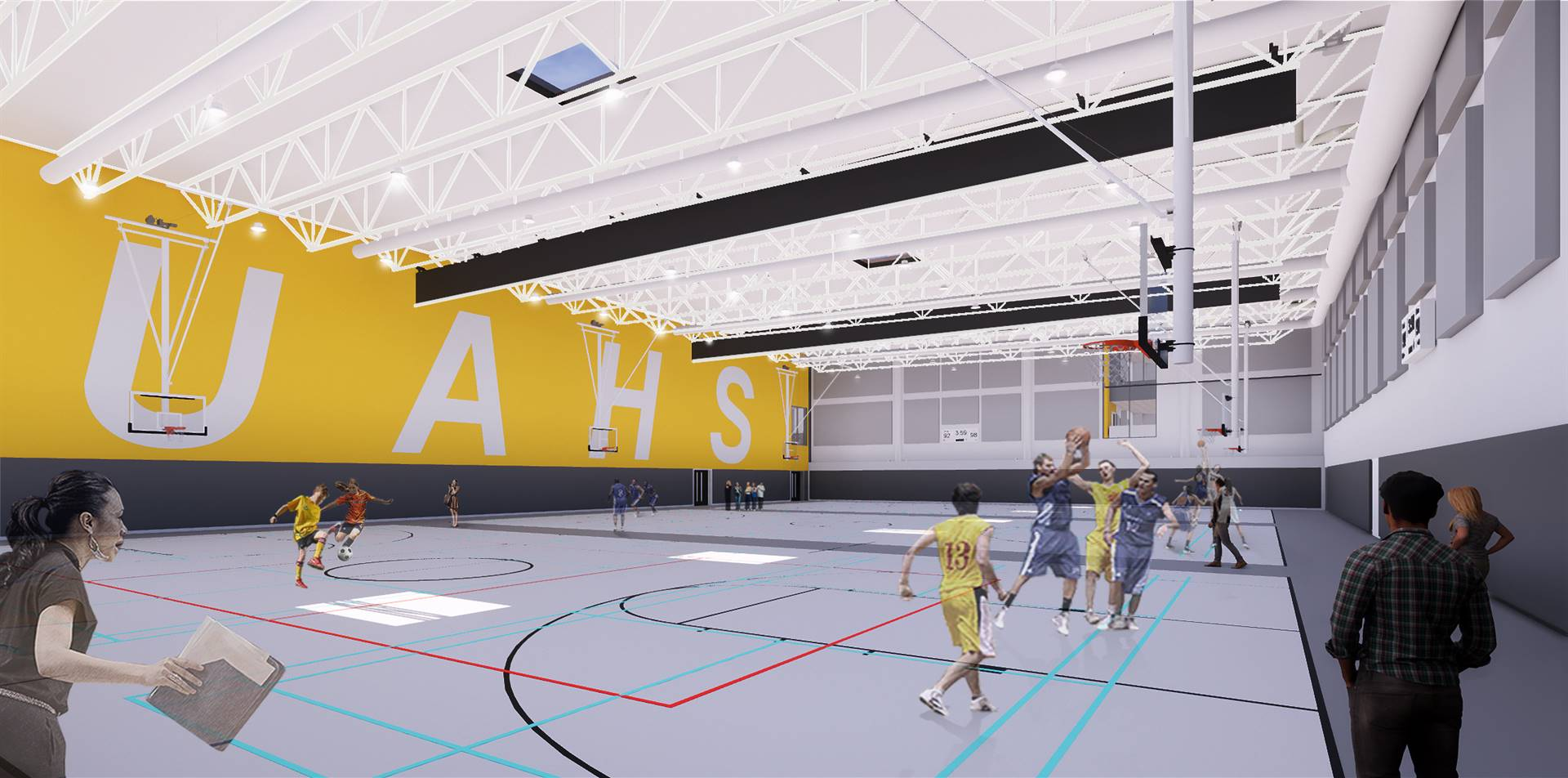 A rendering of the field house