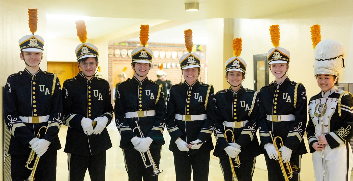 Members of the marching band