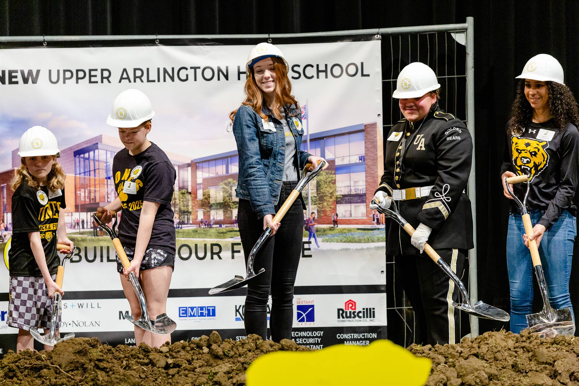Student ambassadors breaking ground
