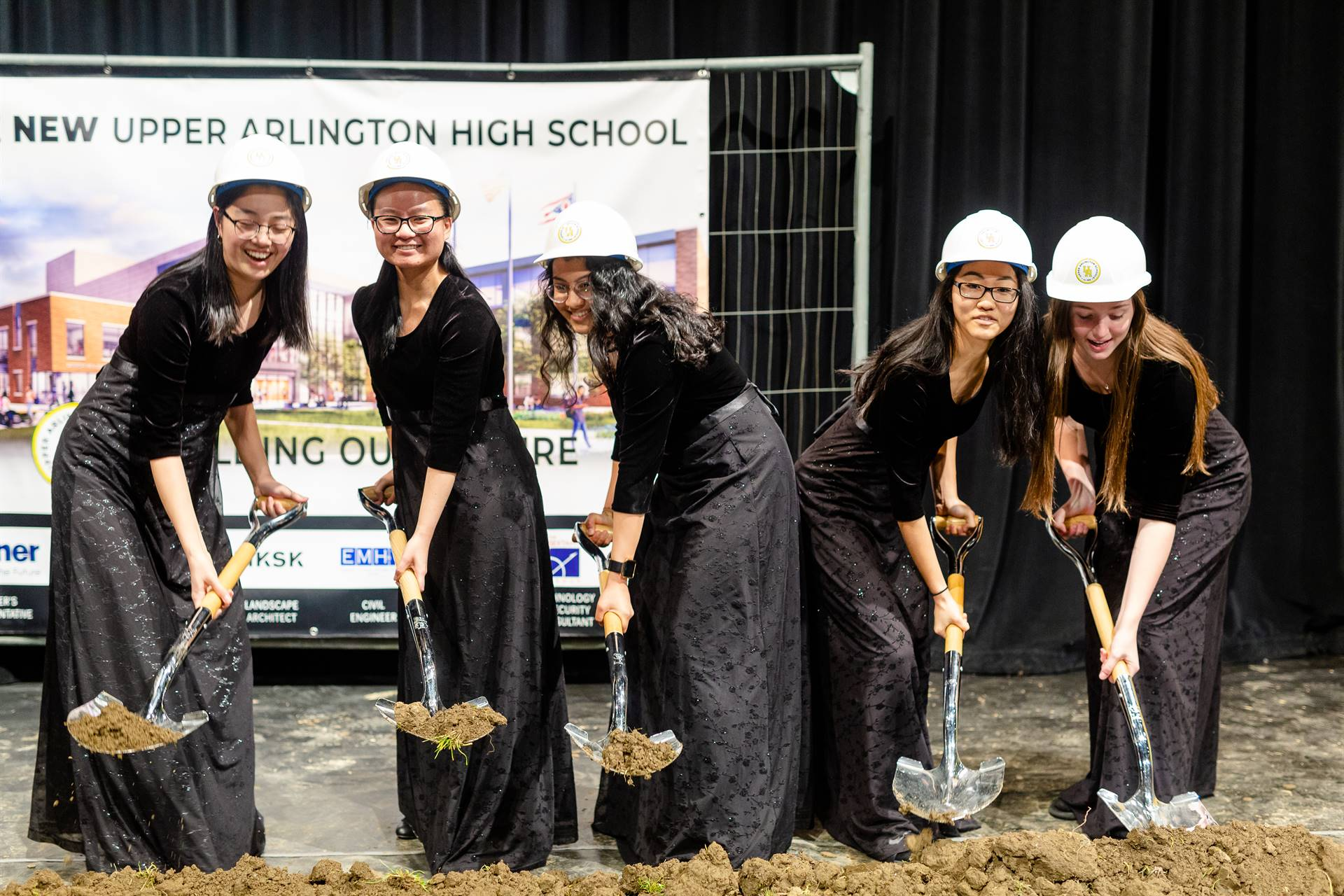 Symphony Strings musicians breaking ground