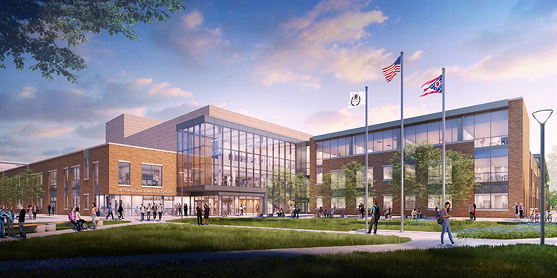 The new Upper Arlington High School