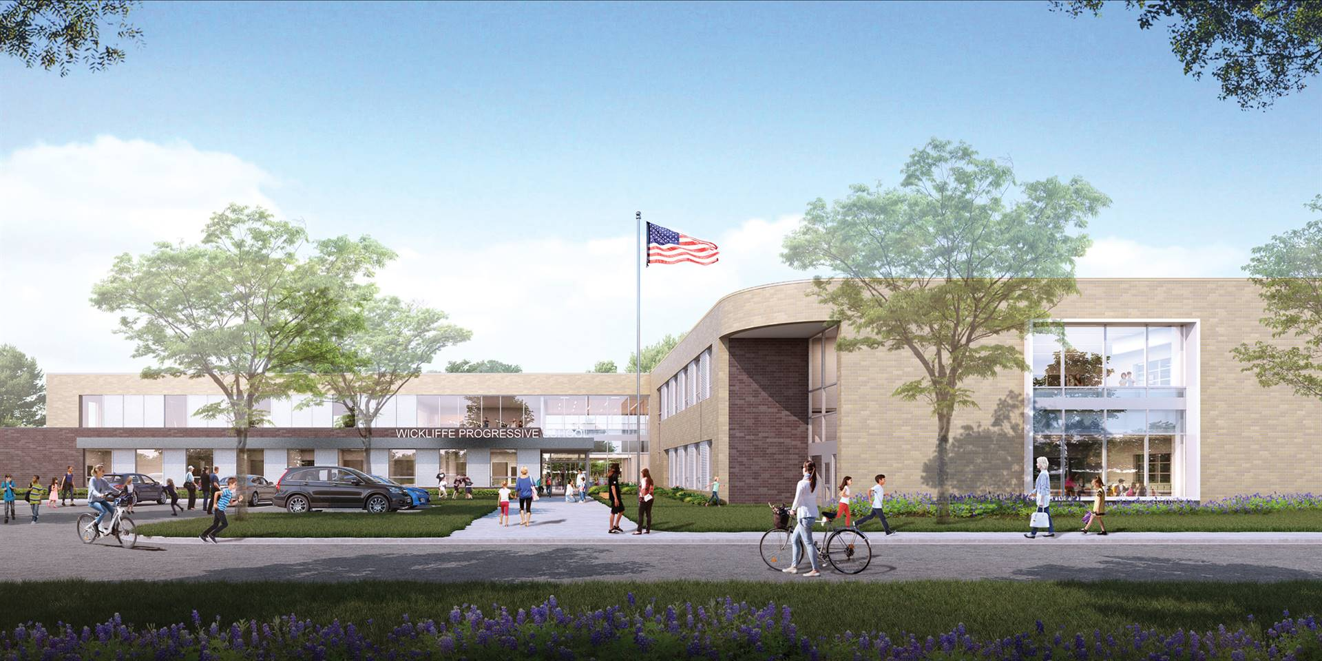 The new Wickliffe Progressive Elementary School