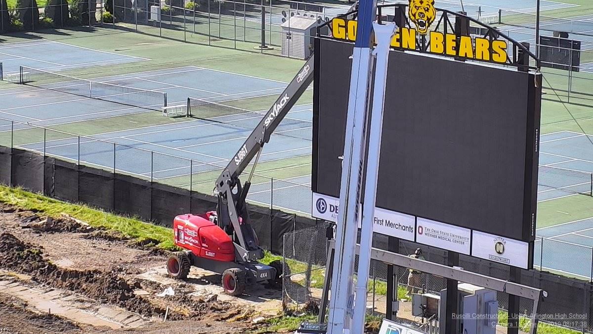High School scoreboard installation