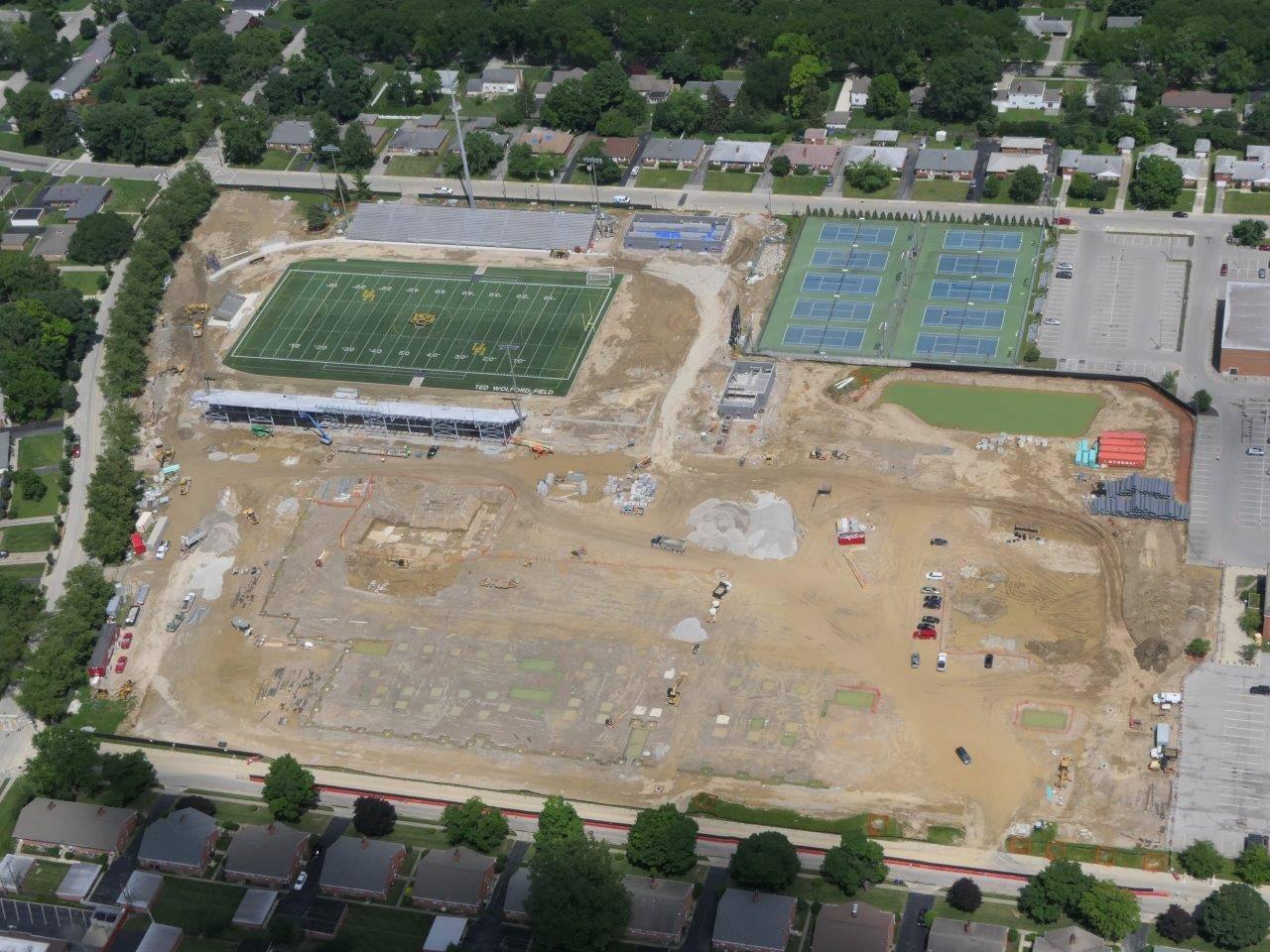 High School site aerial looking east
