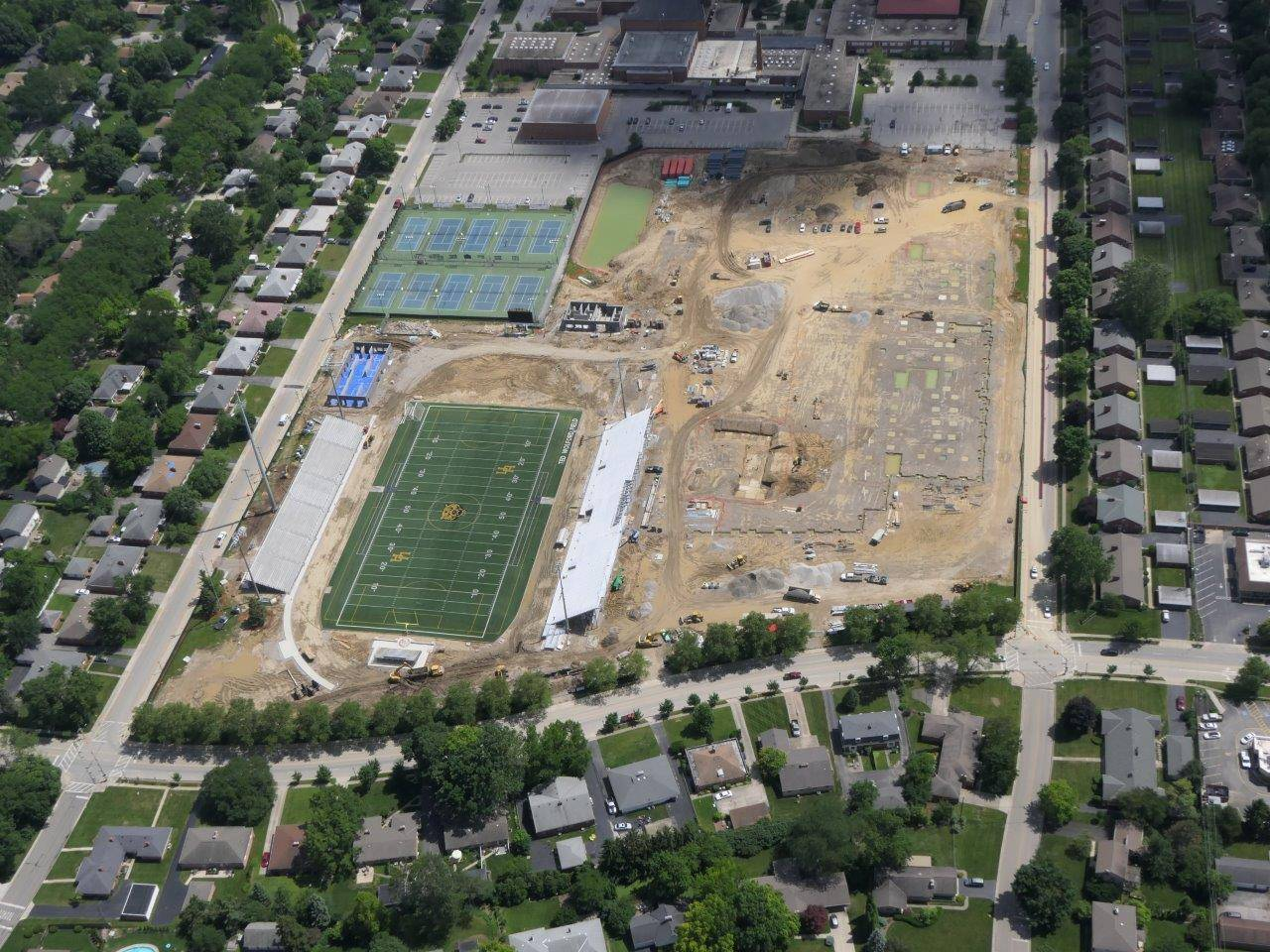 High School site aerial looking south