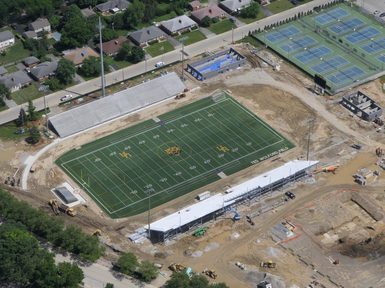 Stadium aerial looking southeast