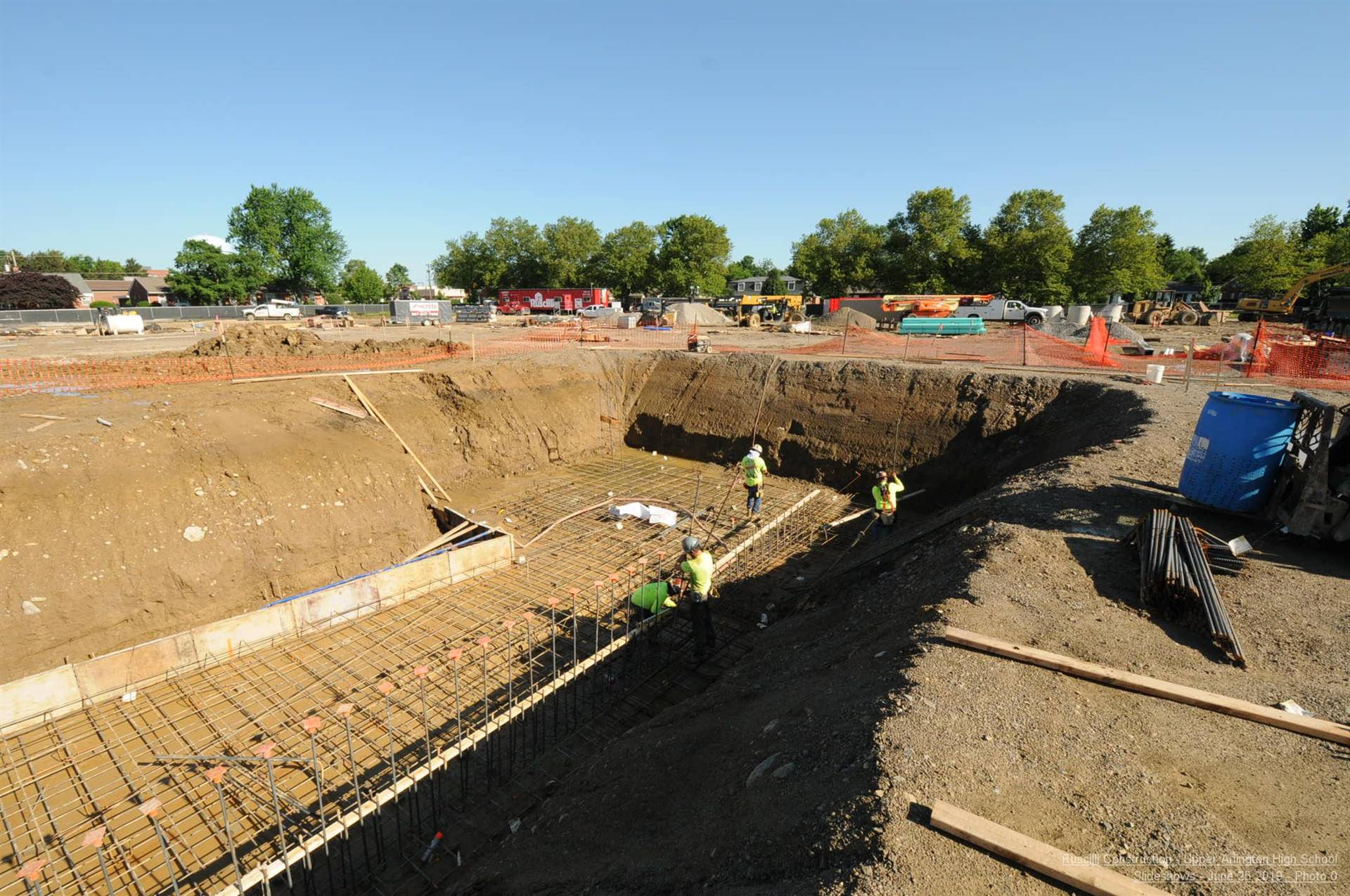 Orchestra pit foundation and footing work