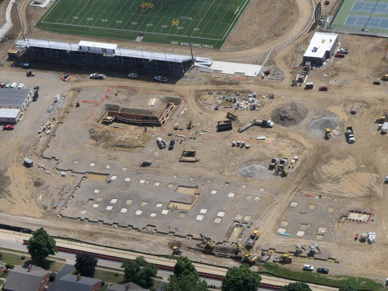 Footer and foundation work for the new high school, July 2019