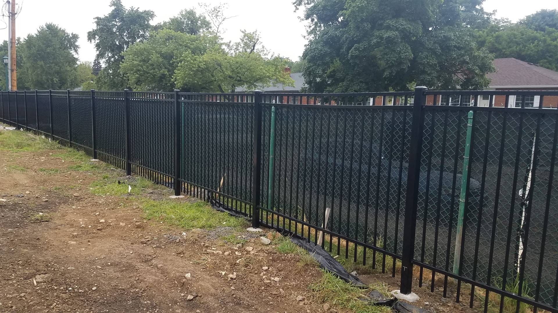 New stadium area fencing, July 2019