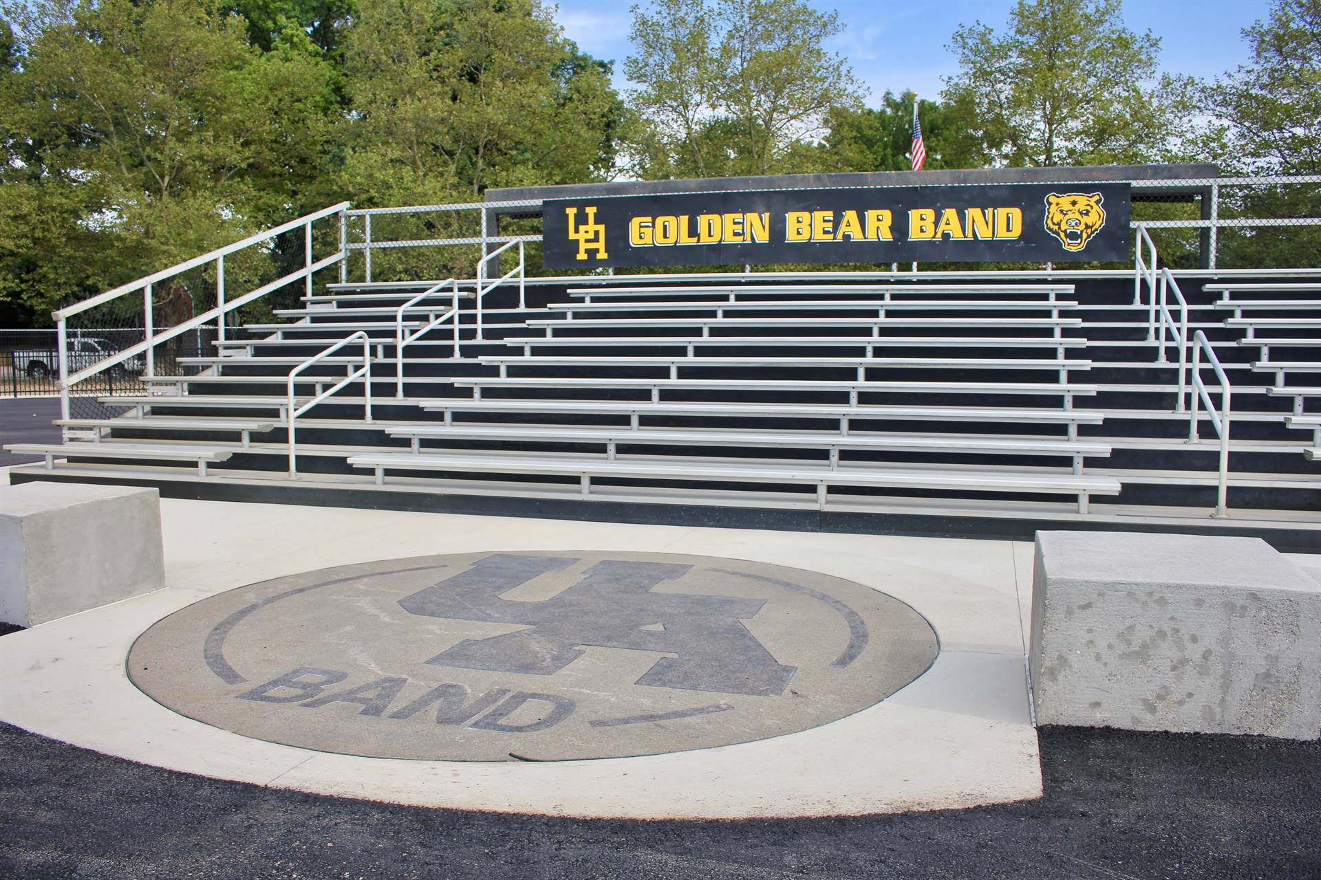 New bandstand and emblem