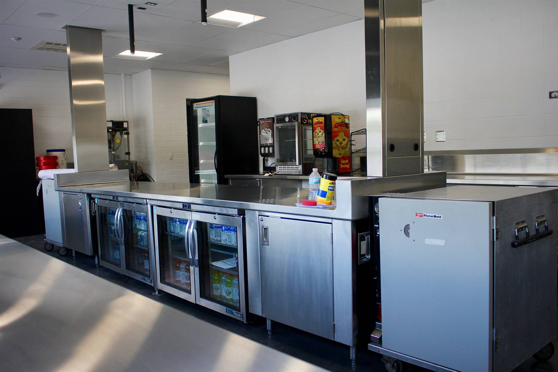 Equipment inside the concession stand