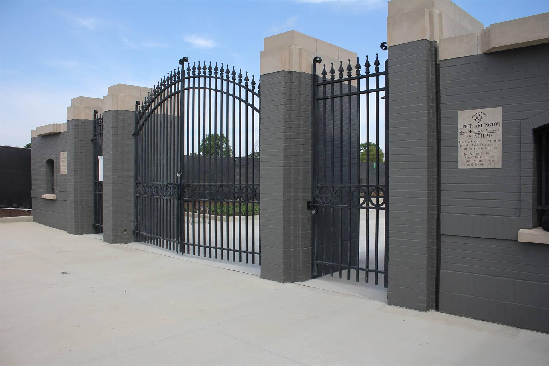 South entry gates